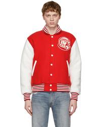Billionaire Boys Club Red White Astro Varsity Jacket