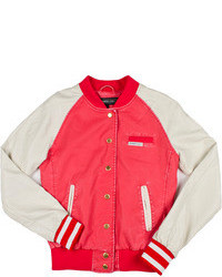 Washed varsity jacket medium 111118