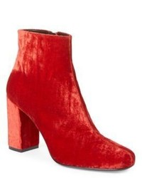 Saint Laurent Babies Velvet Block Heel Booties