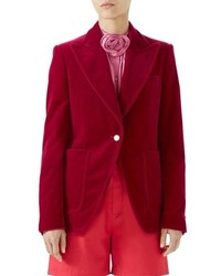 Gucci Stretch Velvet Blazer