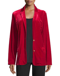 Joan Vass Velvet Two Button Blazer