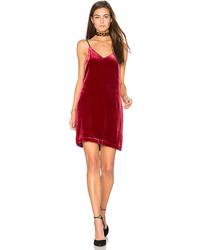 Red Velvet Cami Dress