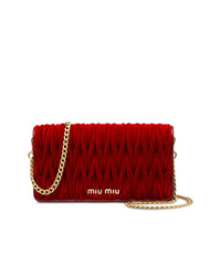 Red Velvet Crossbody Bag