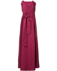 Red Velvet Evening Dress