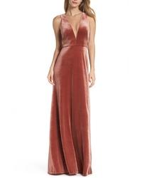 28964b66887 Jenny Yoo Logan Plunging V Neck Velvet Gown