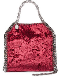 Stella McCartney Falabella Mini Crushed Velvet Tote Bag