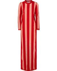 MARQUES ALMEIDA Striped Devor Chiffon Maxi Dress