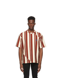 Opening Ceremony Red And Off White Striped Twisted T Shirt