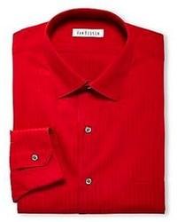 Red Vertical Striped Dress Shirt