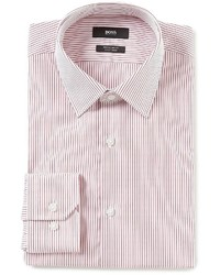 Hugo Boss Boss Hugo Easy Iron Regular Fit Point Collar Striped Dress Shirt