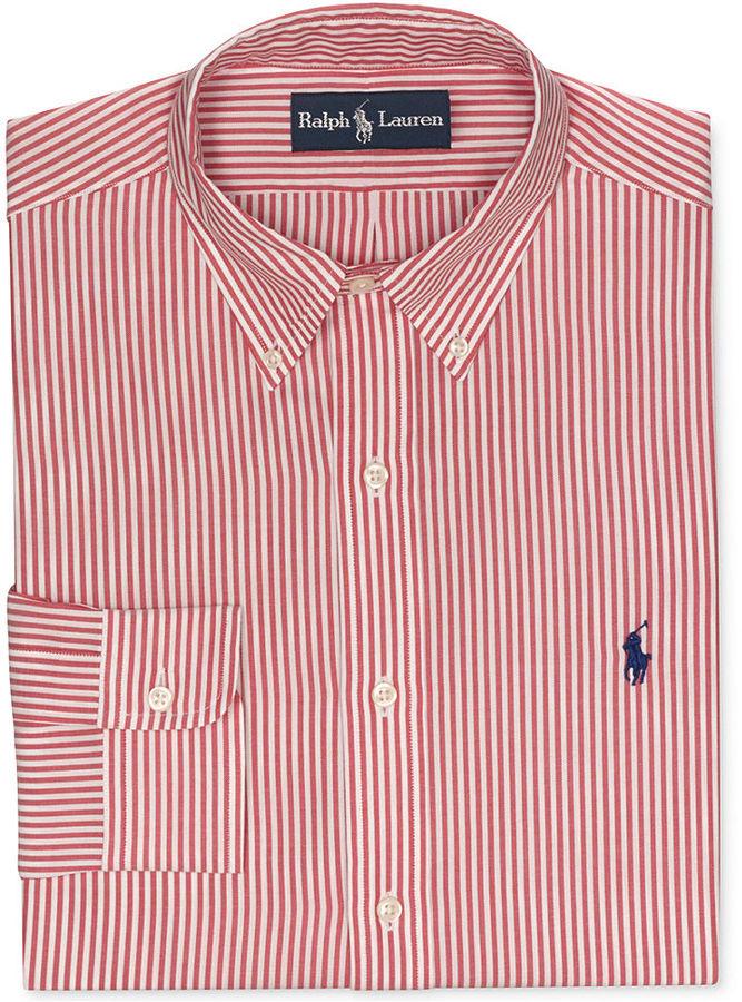 ... Shirts Polo Ralph Lauren Red And White Stripe Dress Shirt