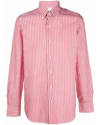 Finamore 1925 Napoli Striped Button Down Cotton Shirt