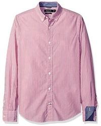 Nautica Long Sleeve Vertical Stripe Button Down Shirt