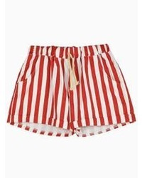 simpatia Speziato Nuovo arrivo  Choies Shorts In Red And White Stripe, $12 | Choies | Lookastic