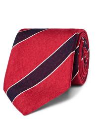 75cm striped silk and linen blend tie medium 4105683