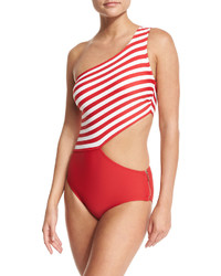 MICHAEL Michael Kors Michl Michl Kors One Shoulder Cutout One Piece Swimsuit