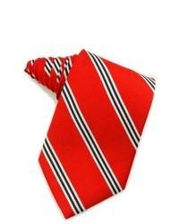Red Vertical Striped Tie