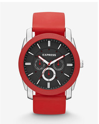 Express Rivington Multi Function Watch Red