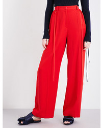 Adeam Drawstring Wide Leg Woven Trousers