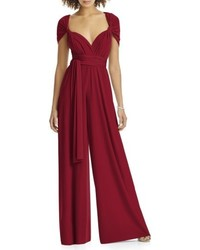 Convertible wide leg jersey jumpsuit medium 6458505