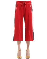 Gucci Cotton Blend Jersey Pants