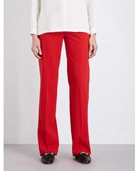 Max Mara Duomo Wide Leg Stretch Wool Trousers
