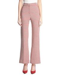 Pamela gingham wide leg suiting pants medium 5277206