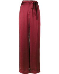 Valentino Pleated Wide Leg Trousers
