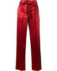 Helmut Lang Satin Wide Leg Trousers