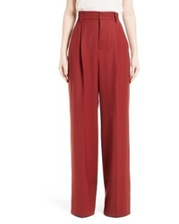 Stretch wool wide leg pants medium 6458517