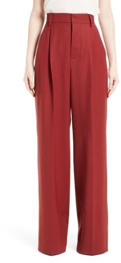 Marni Stretch Wool Wide Leg Pants