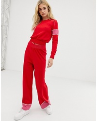 Free People Sunday Knitted Jumper And Wide Leg Trouser Set