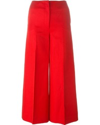 Wide leg cropped trousers medium 536243