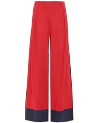 Tomas Maier Wide Leg Jersey Trousers