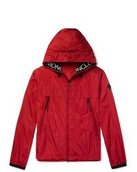 Moncler Massereau Logo Embroidered Hooded Shell Jacket