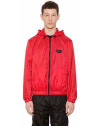Givenchy Nylon Windbreaker With Logo Patch