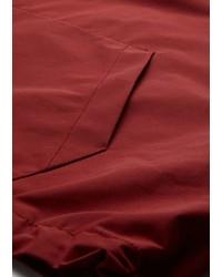 Emporio Armani Windbreaker In Cotton Technical Fabric