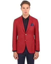 Canali Kei Wool Silk Blend Twill Blazer