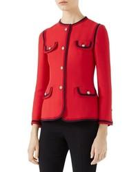 Gucci Silk Wool Crepe Cady Jacket