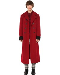 Haider Ackermann Double Breast Wool Cloth Coat