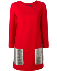 Salvatore Ferragamo Contrast Pocket Dress