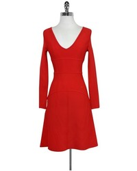 BCBGMAXAZRIA Bcbg Max Azria Red Flared Dress