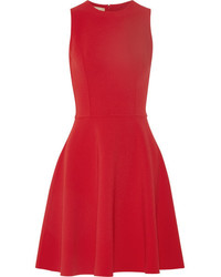 Michl kors collection stretch wool crepe dress red medium 6465187