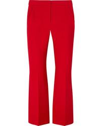 Alexander McQueen Cropped Wool Blend Flared Pants