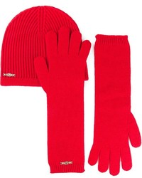 2 ribbed beanie and gloves set medium 121977
