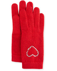 Crystal cuff wool blend gloves poppy red medium 848994