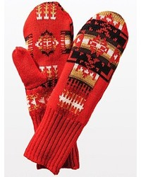 Pendleton Fleece Lined Jacquard Mittens