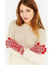 Urban Outfitters Fair Isle Plush Glove