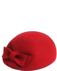 ChicNova Red Bowknot Wool Beret