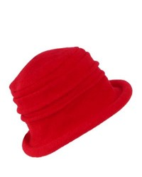Dorfman pacific scala wool cloche hat by red one size medium 151871